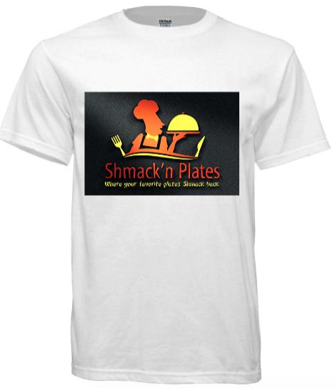 (WHITE) Shmack'n Plates T-shirt