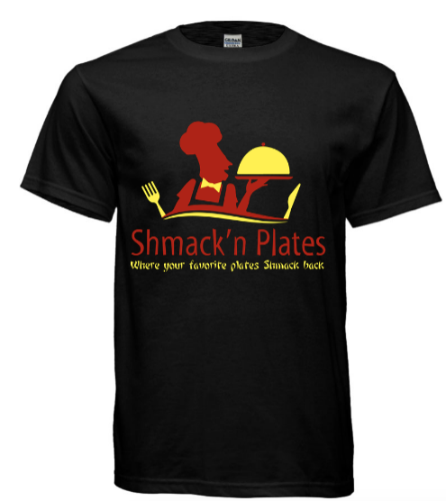 (BLACK) Shmack'n Plates T-shirt