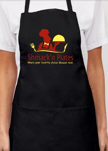 (BLACK) Shmack'n Plates Apron
