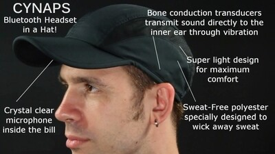 Cynaps Classic Bluetooth Bone Conduction Cap with Removable Module