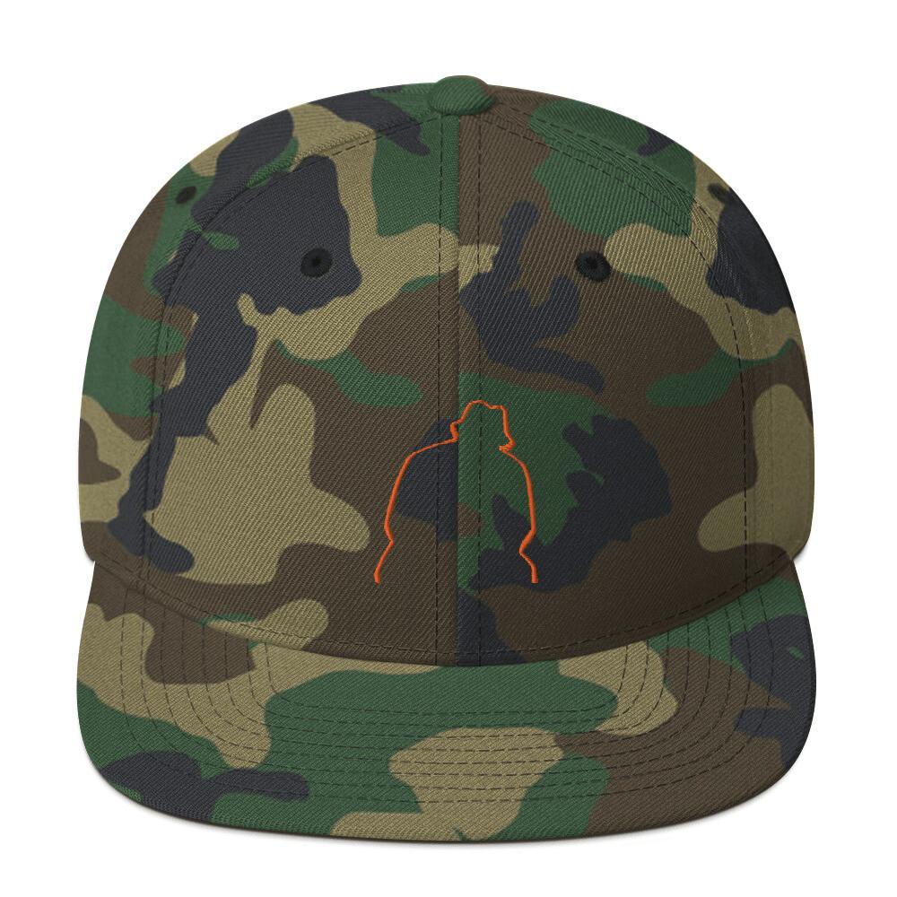 Drew Thomas Silhouette Camo-Orange Snapback Hat