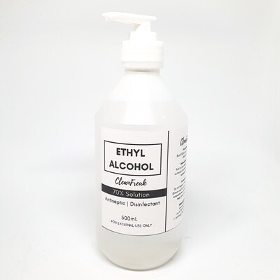 70% Ethyl Alcohol (500ml)