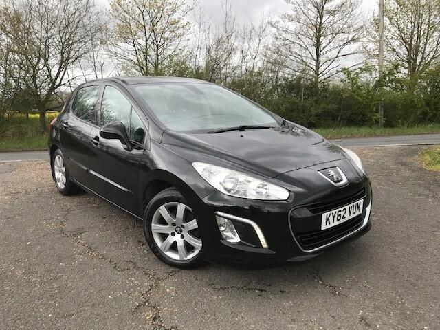 Peugeot 308 1.6HDi Active 2012 72K Black £20 Road Tax