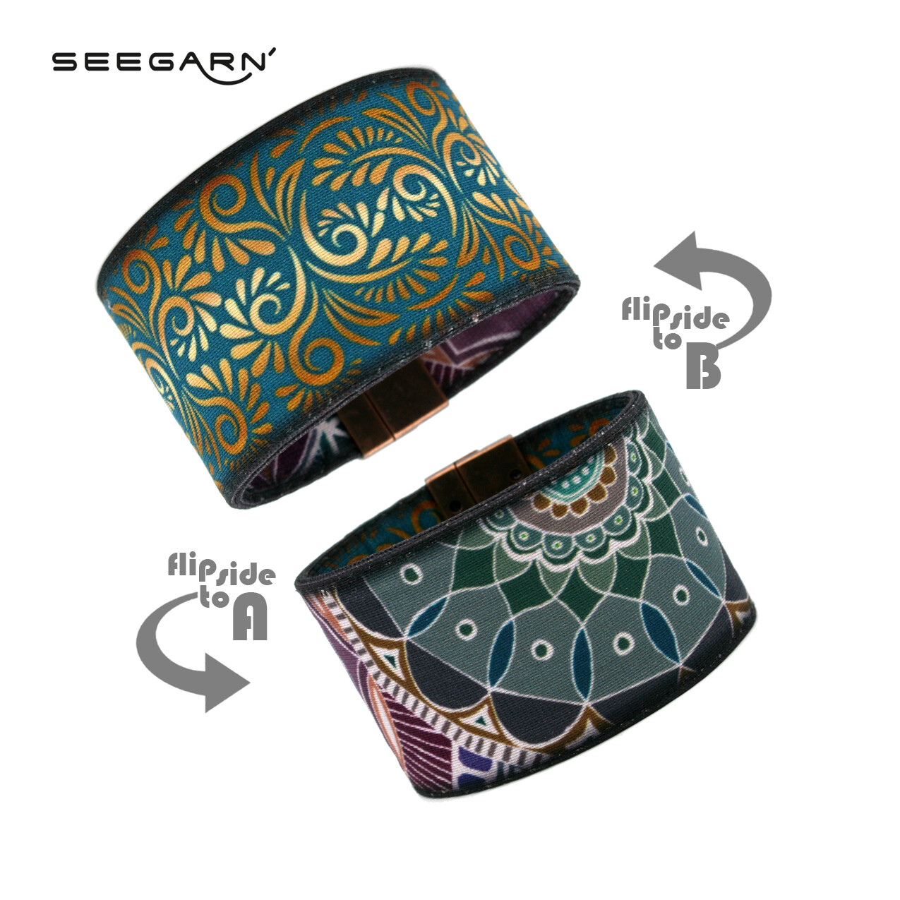 Seegarn Wende-Armband (Design MB24 & MB01)