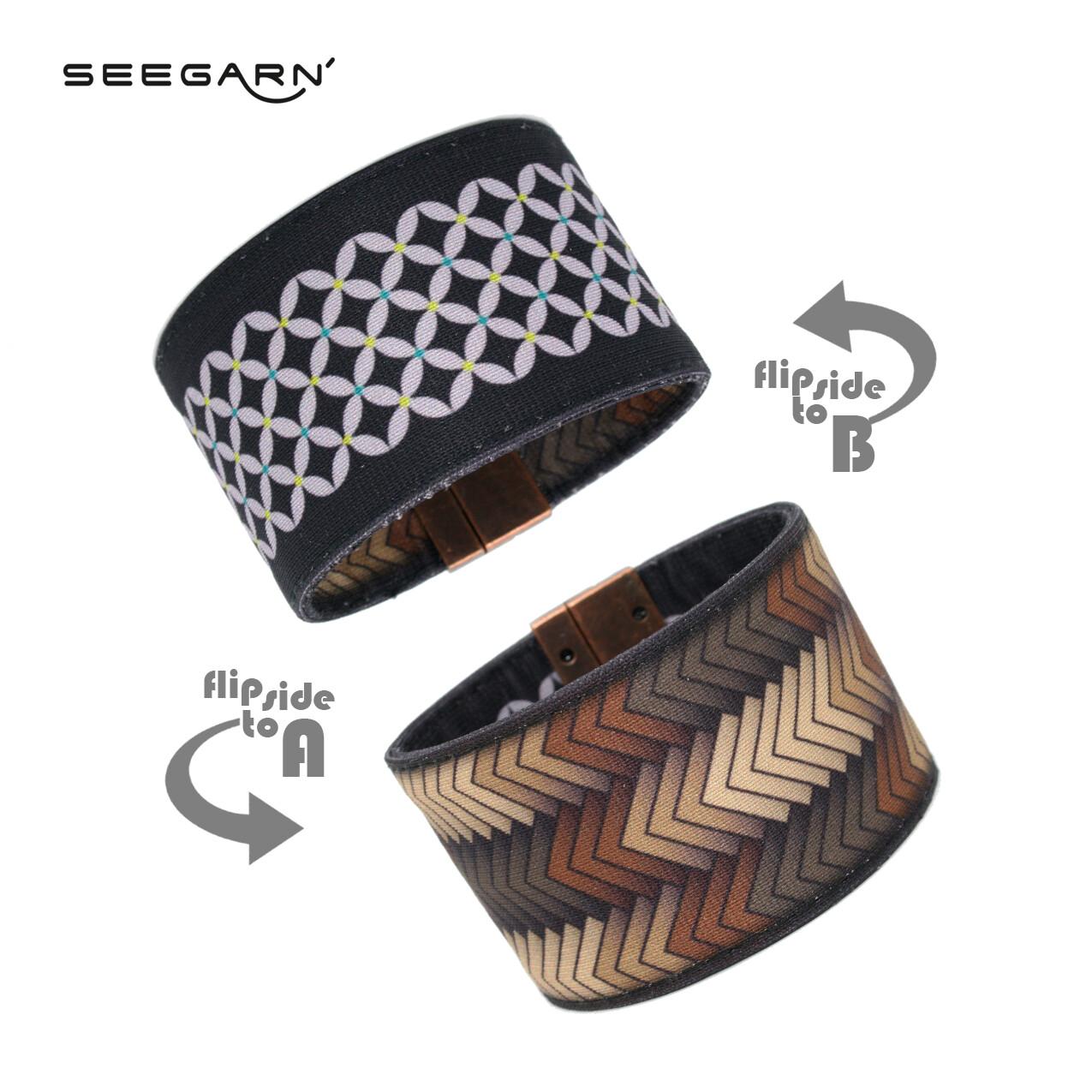 Seegarn Wende-Armband (Design MB31 & MB15)