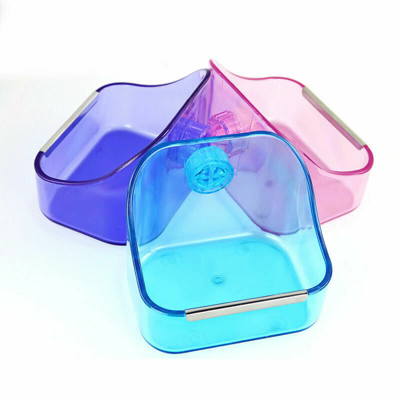 Small Animal Supplies Plastic Pet Rabbit/Guinea Pig/Galesaur/Hamster Grass/Food/Water Double Use Container/Feeder/Bowl/Dish.