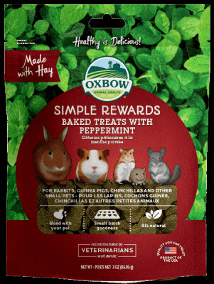 Oxbow Simple Rewards Baked Treats with Peppermint 85g