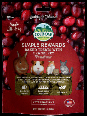 Oxbow Simple Rewards Baked Treats with Cranberry 85g