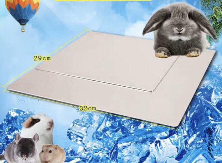 Rabbit Cooling Pad Hamster Cooling Pad Pet Cooling Mat for Rabbit Bunny Hamster Puppy Kitten Guinea Pig & Other Small Pets Stay Cool- Pet Cool Plate Ice Bed  32cm*29cm