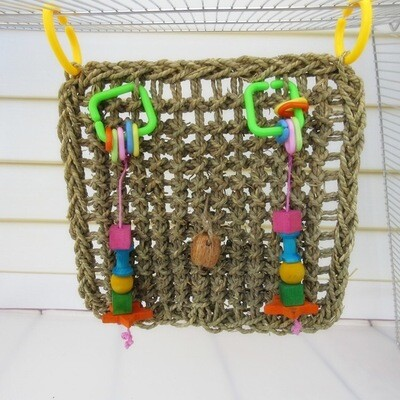 Seagrass hanging mat with toys 30*30cm