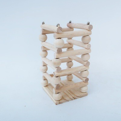 Wood hay holder/toy