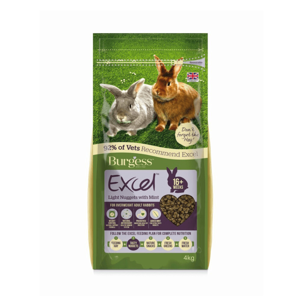 Burgess Excel Light Nuggets For Overweight Rabbits 2KG