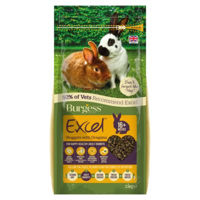 Burgess Excel Rabbit Nuggets with Oregano 2KG