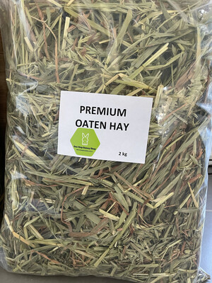 Premium Oaten Hay 2kg (Re-Sealable bag)