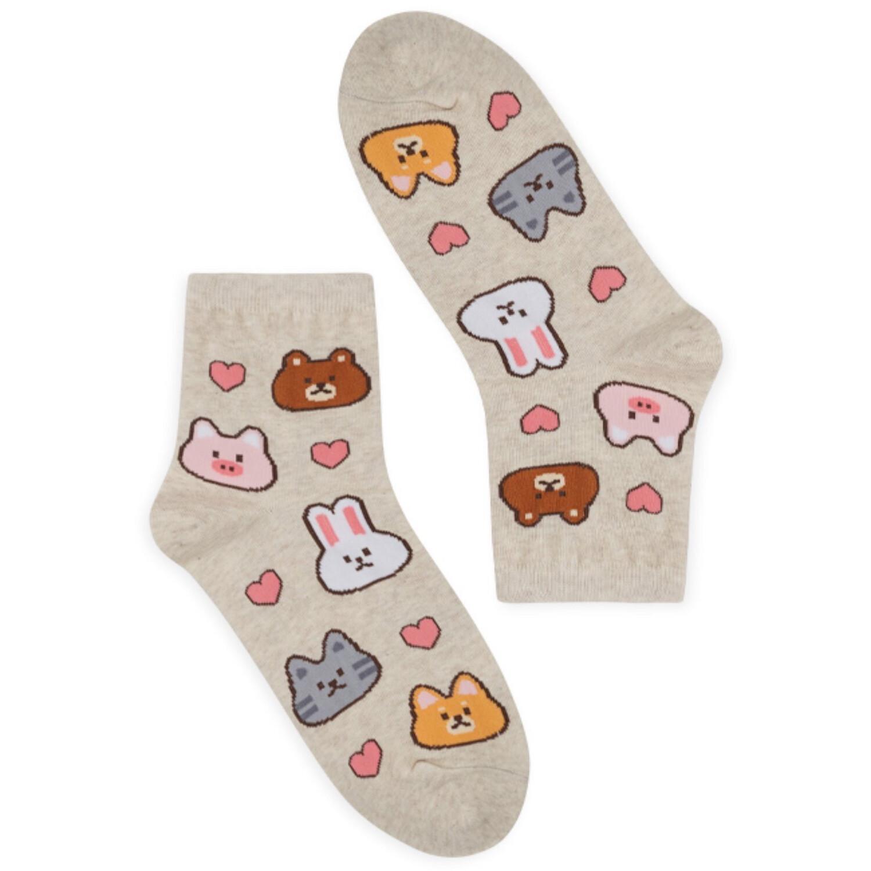 Cute Animal Medium Height Women Socks (Size 3-8)