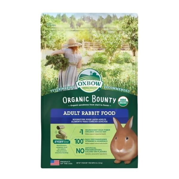 Oxbow Organic Bounty Adult Rabbit Pellets 1.36kg