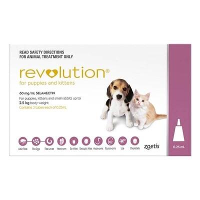 Revolution Puppy/Kitten 0-2.5kg Pink 3pk