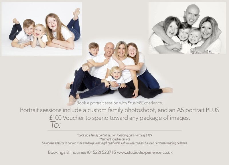 Family Photoshoot Gift Voucher with Portrait PLUS £100 towards any package upgrade!
