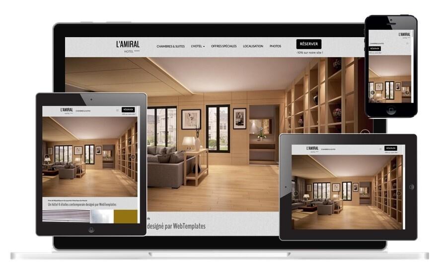 Template GRAND HOTEL WebAcappella Grid - Hors système de réservation de chambres (nous consulter)