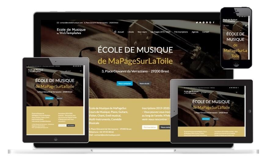 Template ECOLE DE MUSIQUE WebAcappella Grid