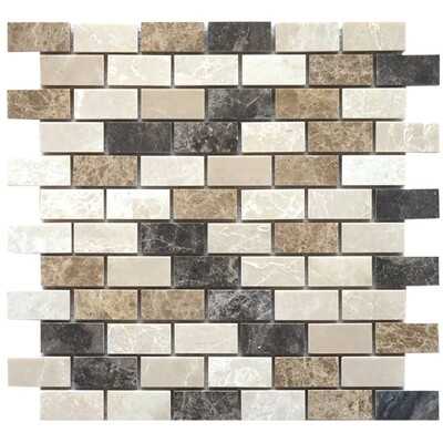 MIXED LIGHT (BOXES) Mosaic Tiles (SHT/BOX.22) 1.8sqm/box