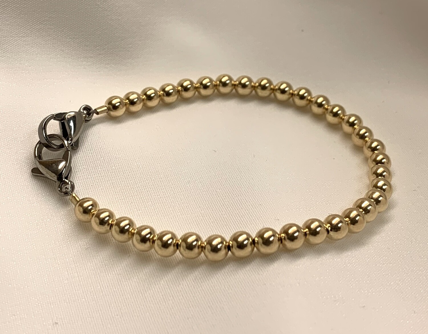 Gold Beaded Medical Replacement Bracelet
