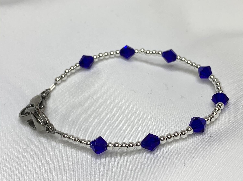 Blue Crystal Royal Capri Medical ID Alert Replacement Bracelet