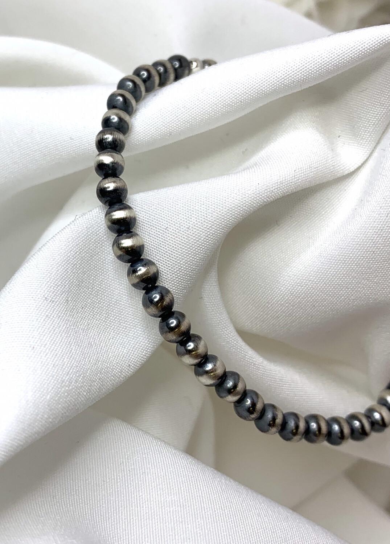 Navajo Pearl Silver Necklace