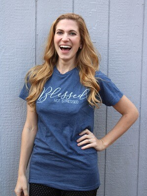 BLESSED NOT STRESSED T-shirt