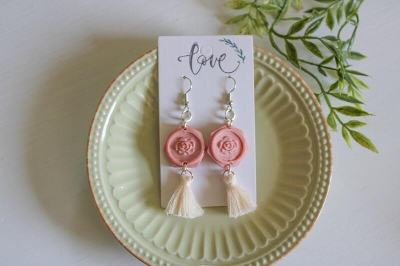 ROSE GOLD Clay Handmade Earrings