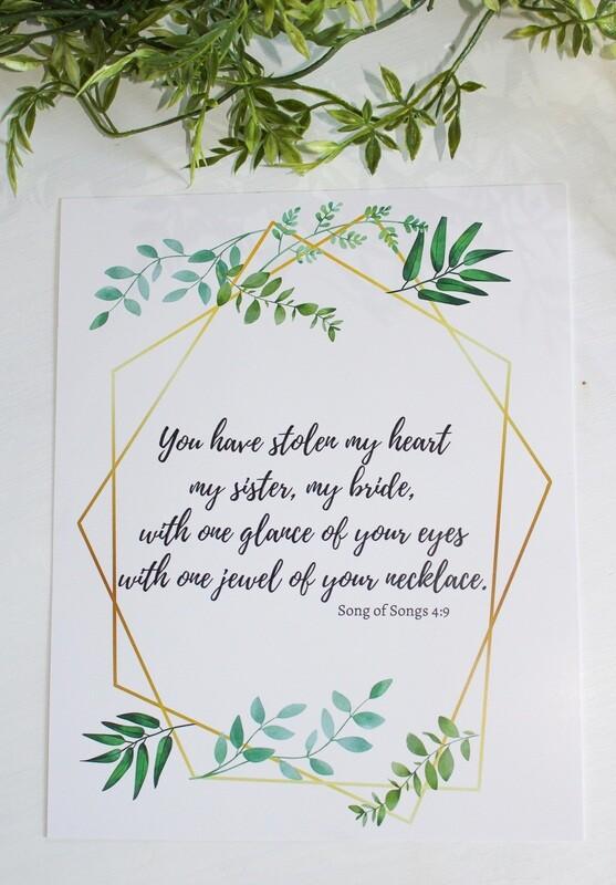 STOLEN MY HEART Print
