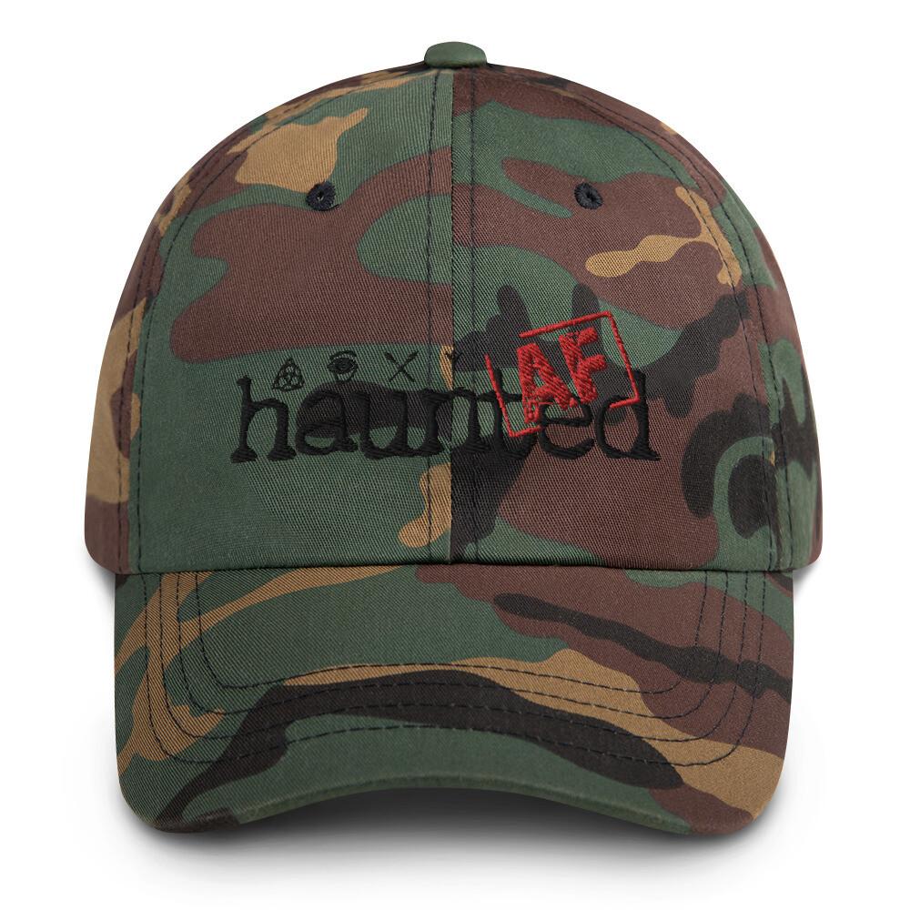 Haunted AF Camo Dad hat