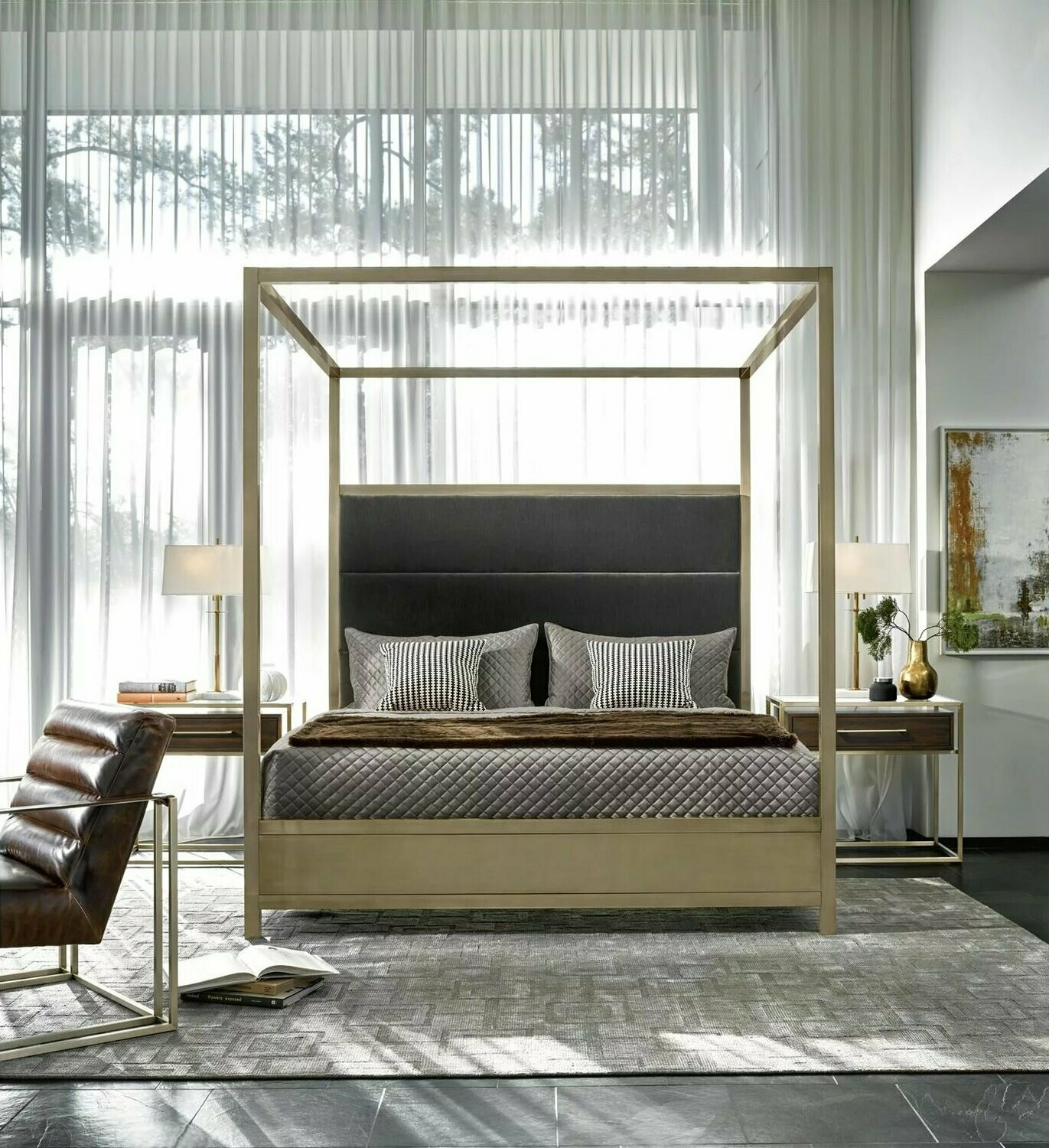 Harlow King Canopy Bed