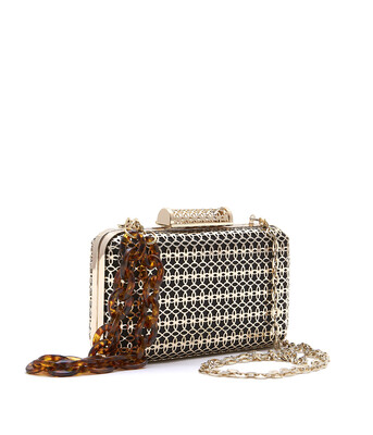 Bell & Fox SKYE Filigree Metal Clutch Gold