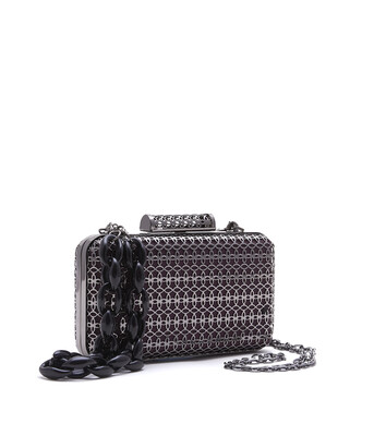 Bell & Fox SKYE Filigree Metal Clutch Gunmetal