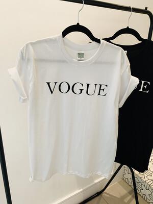 Vogue T Shirt White / Black