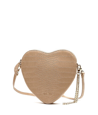 Bell & Fox AMOUR heart Crossbody / Wristlet Clutch Bag - Croc Camel