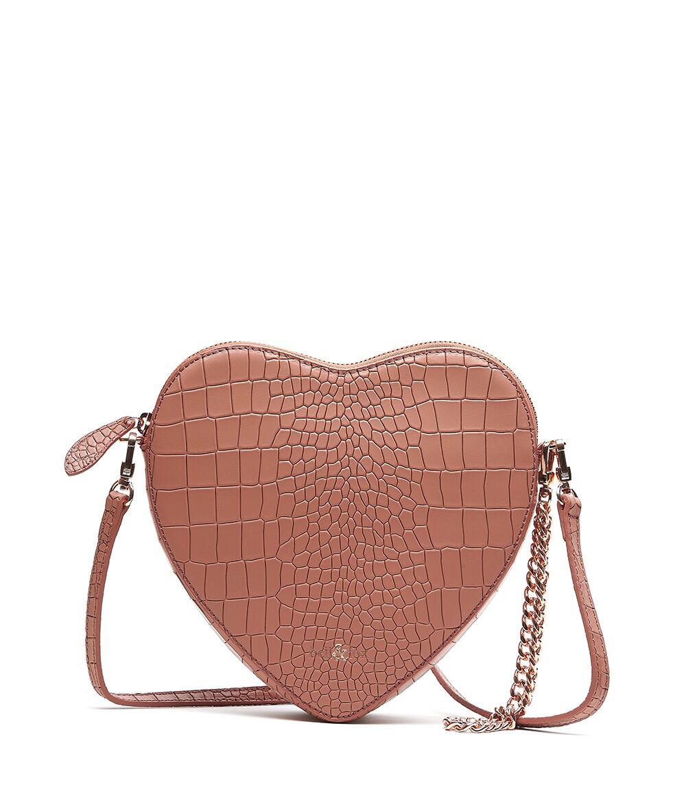 Bell & Fox AMOUR Heart Crossbody / Wristlet Clutch Bag - Terracotta
