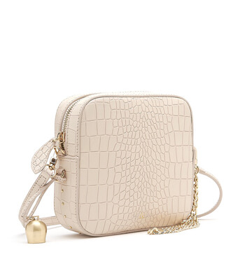Bell & Fox MARLO Mini Square Bag - Croc Powder