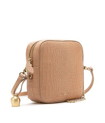 Bell & Fox MARLO Mini Square Bag - Croc Camel