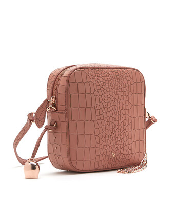 Bell & Fox MARLO Mini Square Bag - Croc Terracotta