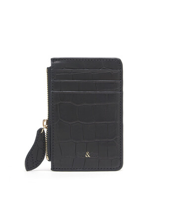 Bell & Fox LIA credit Card Purse - Croc Black