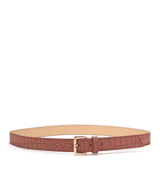 Bell & Fox ERIN Belt - Croc Terracotta