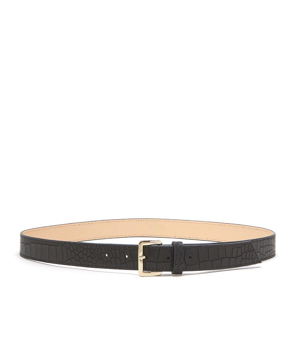 Bell & Fox ERIN Belt Croc Black