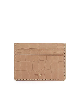 Bell & Fox RUMI Card Holder - Croc Camel