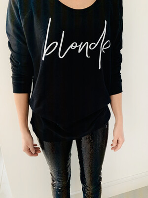 Lucy Dodwell Blonde Sweatshirt - Black