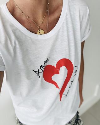 Love Sweat & Tees Amore De Ma Vie Tee - White