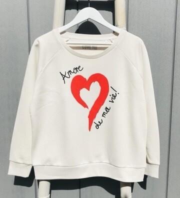 Love Sweat & Tees AMORE Sweatshirt - Vintage White