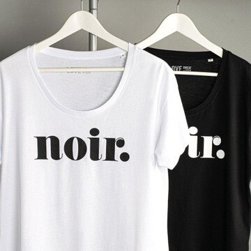 Love Sweat & Tees Noir Relaxed Scoop Neck Tee - White