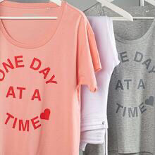 Love Sweat & Tees One Day At A Time Tee - Pink